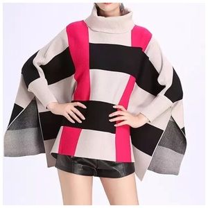 Sweaters - ❤️ The EUPHAN Bold Color Cashmere Sweater Cape